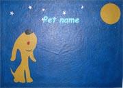 Handpainted pet food mats